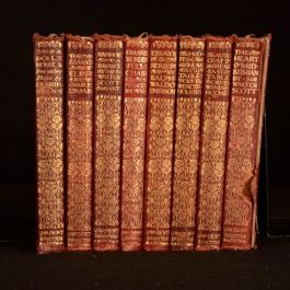 c1910 8vols The Everymans Library Dent Ibsen Wendell-Holmes Lamb Emerson Scott