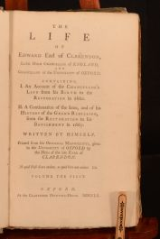 1760 2vol The Life of Edward Earl of Clarendon Early Edition Publisher's Boards