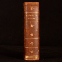 1869 Critical and Historical Essays Lord Macaulay Edinburgh Review New Edition