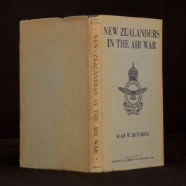 1945 New Zealanders in the Air War Alan W. Mitchell Signed First Ed Dustwrapper