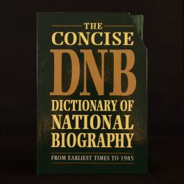 1992 3vols The Concise Dictionary of National Biography Earliest Times to 1985