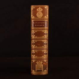 1861 Critical and Historical Essays Edinburgh Review Lord Macaulay New Edition