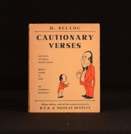 1951 Cautionary Verses Illustrated H Belloc With Scarce Dustwrapper Poetry Album Edition