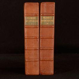 1931 2vols Montaignes Essays John Florios Translation Limited Edition Nonesuch