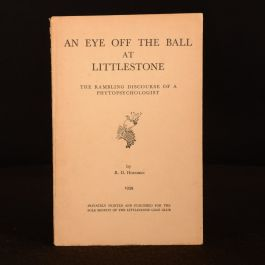 1939 An Eye Off The Ball At Littlestone Limited Edition Illustrated Scarce