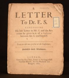 A Letter to Dr. E.S. Concerning His Late Letter to Mr G and the Account He Gives
