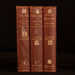1880-2 3vols Tom Jones and Joseph Andrews Illustrated by Cruikshank H Fielding