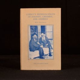 1934 Reminiscences of Tolstoy Chekov and Andreev Maxim Gorky First Ed English Tr