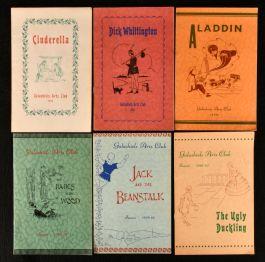 1955-61 Six Programs for Galashiels Arts Club Pantomimes