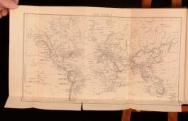 1883 F D Bridges Journal of a Lady's Travels Round the World Maps Scarce First