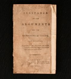 1785 Substance of the Arguments on the Important Questions, Now Depending