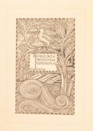 1914 Francisco Goya Hugh Stokes Signed Dedicated R. A. Walker Bookplate James Guthrie