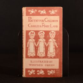 1898 Poetry for Children Charles and Mary Lamb Illus Winifred Green Scarce