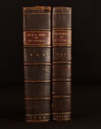 1838 - 1840 2vol Life and Testimony of Saint Cyprian Ayliffe Poole Author's Copy