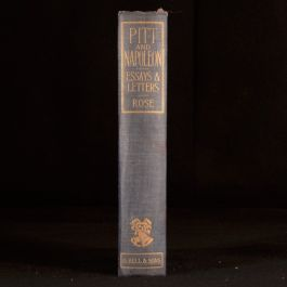 1912 Pitt and Napoleon Essays and Letters J Holland Rose Military Trafalgar War