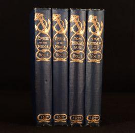 1894 4vols Michael Scott Tom Cringles Log Cruise of the Midge Illus John Lewis
