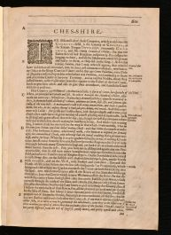 1610 Ches-shire Britain a Chorographicall Description of the Most Flourishing