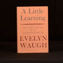 1964 A Little Learning Autobiography First Volume Evelyn Waugh First Edition