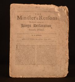 The Minister's Reasons For His Not Reading the Kings Declaration Friendly Debated