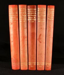 1930-1931 The Whole Works of Homer Prince of Poetts in his Iliads and Odysses