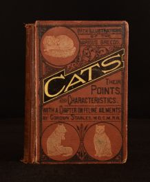 1876 Cats Their Points and Characteristics William Gordon Stables Scarce