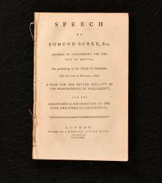 1780 Speech of Edmund Burke Esq Member of Parliament for the City of Bristol