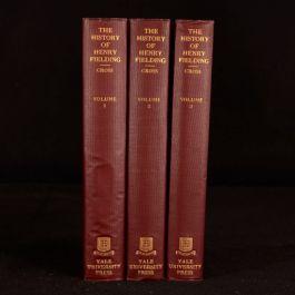 1918 3vols The History of Henry Fielding Wilbur L Cross Illustrated