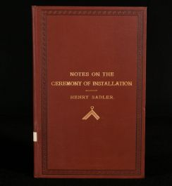 1889 Notes on the Ceremony of Installation