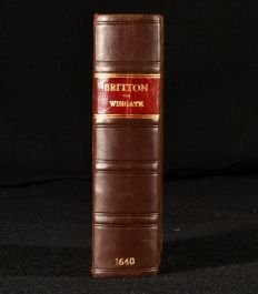 1640 Britton The Second Edition Faithfully Corrected According to Divers Ancient Manuscripts