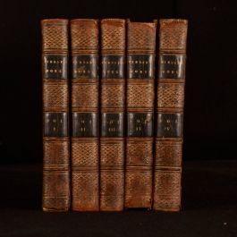 1794-1801 5vols The Works of Peter Pindar First Illustrated Satire Poetry Wolcot