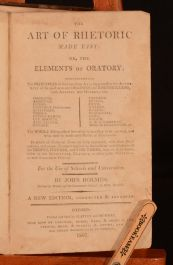 1807 The Art of Rhetoric Made Easy John Holmes Very Scarce
