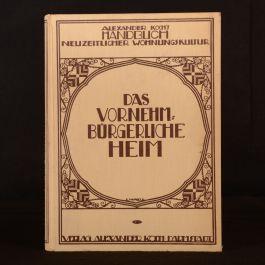 1922 Alexander Kochs Handbuch Neuzeitlicher Wohnungs Kultur Illustrated Design