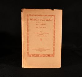 1928 Songs & Lyrics from the Plays of Beaumont and Fletcher