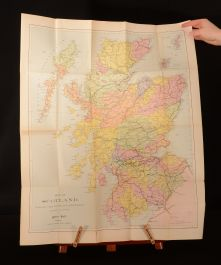 1882 The Highland Sportsman Robert Hall Author's Presentation Copy Folding Maps