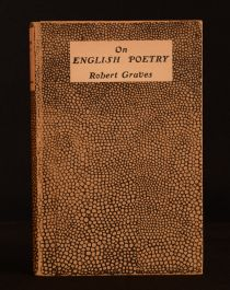 1922 On English Poetry Robert Graves First Edition