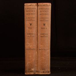 1927 2vols English Books 1475-1900 Charles J Sawyer and F J Harvey Darton