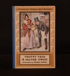 c1920 Trotty Veck and His Daughter Meg Mary Dickens Copping Illus Colour Frontis