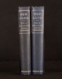1904 2vol New Land Four Years in Arctic Regions Sverdrup Illus Folding Maps 1st
