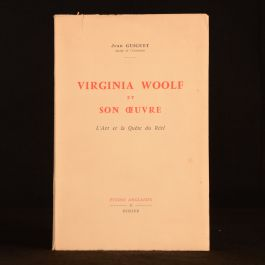 1962 Virginia Woolf et Son Oeuvre L'Art et la Quete du Reel Jean Guiguet French