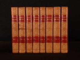 1812 8vols Works of Alexander Pope Esq Verse and Prose Dr Johnson