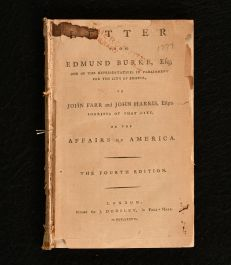 1777 A Letter from Edmund Burke Esq to John Farr and John Harris