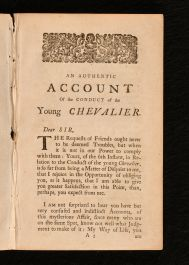 1749 An Authentic Account of the Conduct of the Young Chevalier