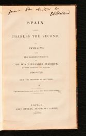 1840 Spain Under Charles the Second; or, Extracts From the Correspondence