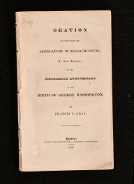 1832 Oration Delivered Before the Legislature of Massachusetts At Their Request