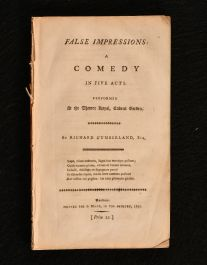 1797 False Impressions a Comedy in Five Acts Performed at the Theatre Royal