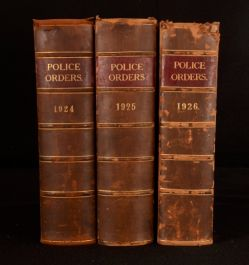 1924-1926 3Vol Metropolitan Police Daily Orders Police Orders Scarce Legal Law