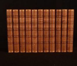 1870 11vol The Collected Novels of Earl of Beaconsfield Disraeli Mudie Binding