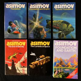 1976-87 Six Science Fiction Novels by Isaac Asimov