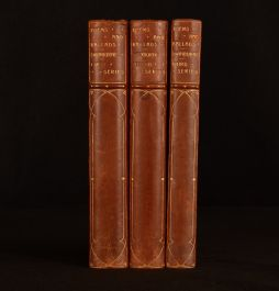1912-13 3vol Poems and Ballads Algernon Charles Swinburne Bickers Binding