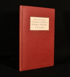 1946 Journal of a Voyage From Sydney to London in the Barque 'Standerings'
